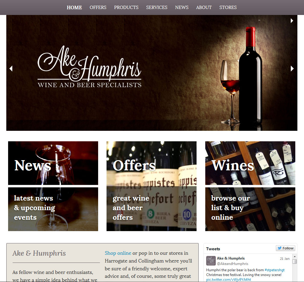 Ake & Humphris' New Responsive Website