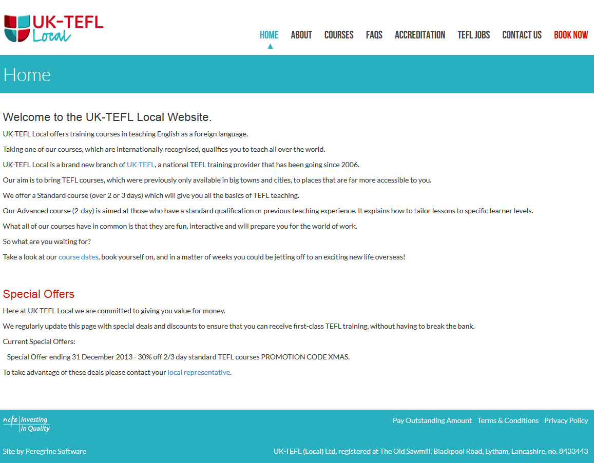 UK-TEFL Local Website
